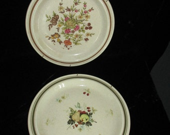 "Royal Doulton   8-1/2"" Plates - Gaiety & Cornwall  1975 made in England-Wall Plates /Vintage Kitchen Plates"