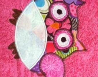 Pink Owl Towel