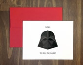 fathers day card / father you rule the galaxy / star wars fan / movie quote / darth vader / perfect for dad / funny fathers day / anytime