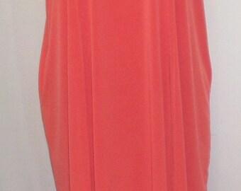 Plus Size Dress, Coco and Juan, Womens Dress Tangerine Traveler Knit Bubble Dress,  Size 1 One Size (fits 1X,2X,3X)