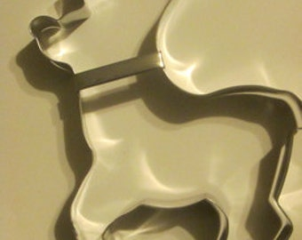extra large Reindeer  Cookie Cutter, Christmas cookie cutter, Rudolph cookie cutter