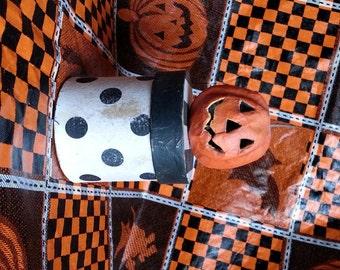 Halloween Candy Container Pumpkin Box Paper Mache Vintage Style OOAK