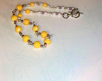 Yellow Beaded Necklace for Dogs, Dog Necklace, Yellow Beads, Dogs, Just for Looks