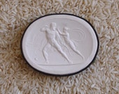 Huge Antique Grand Tour Cameo Plasters From the 1800's of Hercules