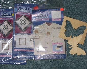 Soft Impressions Bonding secret * Fall Maple Leaf design * works like iron on transfers * from Ohio