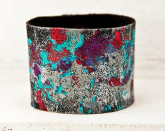 2016 Trends Casual Leather Wrist Cuff Jewelry - Gypsy Bracelet Wristband Painted Leather - Guide Handmade