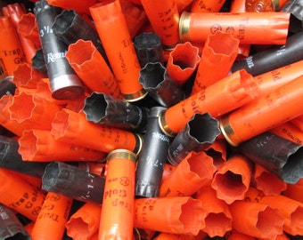 200 pcs Halloween colors orange and black shotgun shells hulls bulk lot empties fired empty shot gun bullets casings