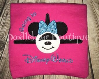 Minnie Mouse airplane Going to Disneyworld shirt