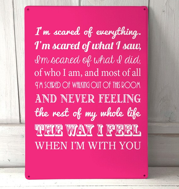 Holes Movie Quotes: Dirty Dancing Movie Quote Pink Sign A4 Metal Plaque Decor