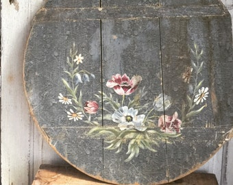 Getman Wood Antique Bread Board Hand Painted