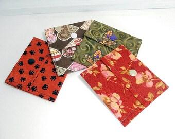 Tea wallet, set of 3 tea wallets, mini tea wallet, tea bag pouch, travel tea case, small tea wallet