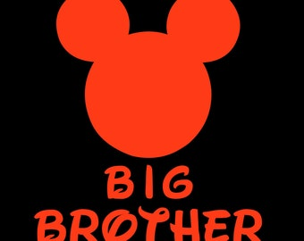 Mickey Mouse Big Brother SVG JPEG instant digital file download for vinyl cutters