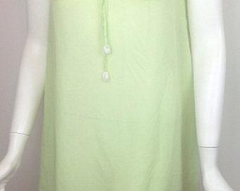 VTG 60s Peter Pan Sheer Dress Pastel Lime