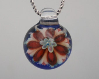 Boro Glass Pendant - Hand Blown Lampwork Jewelry - Glass Necklace