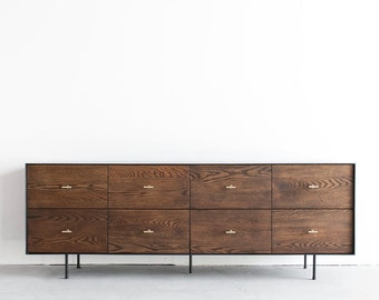 Arden White Oak Industrial Steel Dresser