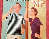 VALENTINES SALE SALE 1955 Cottons You'll Love Knit and Crochet Coats and Clarks Pattern Book