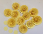 Paper Yellow Flower Spiral Roses