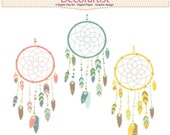ON SALE Dreamcatcher clip art, tribal clip art, clipart, Dream catcher clip art