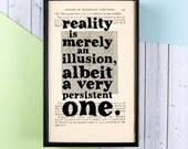 Einstein Quote - Reality Is Merely An Illusion - Geek Gift - Geek Art - Einstein Wall Art - Geeky Gift - Gift for Geek - Framed Quote
