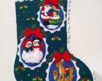 Bucilla Romantic Couples Christmas Stocking