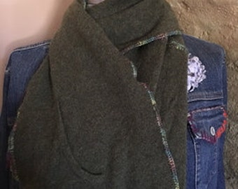 seaweed green cashmere scarf