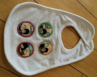 Beatles inspired Baby Bib (not a licensed product)