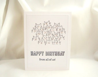 Group Birthday Card, Birthday Card From All of Us, Happy Birthday From All of Us, Happy Birthday From the Gang, Co-Worker Birthday Card,