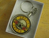 Guns N Roses Keychain made from collector poker chip