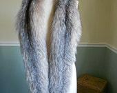 Fox Fur Scarf  / Large Collar / Boa Wrap / Stole Shawl