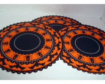 Halloween Paper Doilies/ Set of 3 OR Set of 6/ Holiday Decor /Craft Supplies*