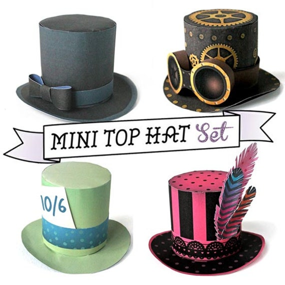 mini top hat templates patterns with an easy no sew step by