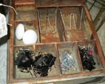 Vintage Antique Rustic Primitive Cash Register Drawer Till