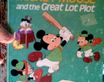 1974 Little Golden Mickey Mouse and the Great Lot Plot