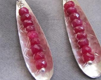 Ruby Pod Earrings