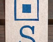 S - Signal Flag Postcard