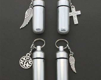 Four Pack - Cremation Urn - Ashes Holder - Ashes Vial - Key Chains - Funeral Memorial - Cremation Jar - Cremation Jewelry