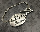Handwriting Jewelry - Handwriting Bracelet - Fine Silver handwriting bracelet