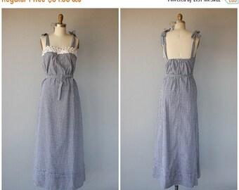 50% OFF CLEARANCE... 1970s Maxi Dress | 70s Maxi Dress | 1970s Sun Dress | Day Dress 1970s | 70s Cotton Dress