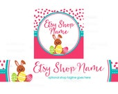 Etsy Banners - Etsy Shop Banners - Easter Etsy Banners - Bunny Etsy Banner - Easter 1-16 - 2 Piece Set