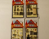 Mini Dollhouse Furniture Bathroom Bedroom Kitchen Living 1/4 or 1/48 scale NOS