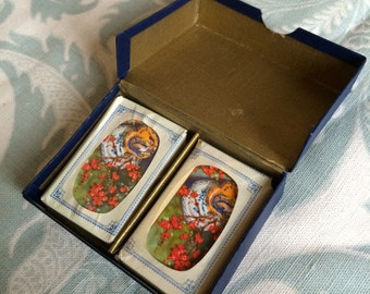 Vintage miniature patience card set