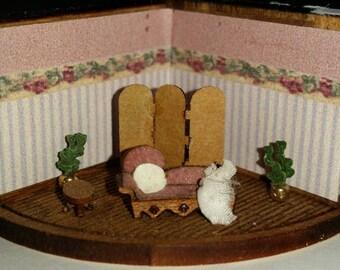 Dollhouse miniature 144th scale sitting room kit
