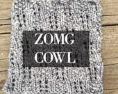 ZOMG Cowl Pdf knitting pattern digital download for handspun art yarn by TreasureGoddess artyarn