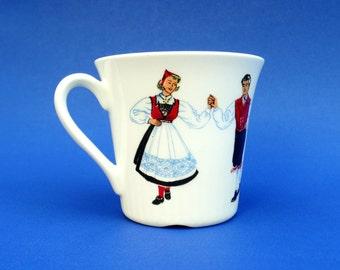 Vintage Figgjo Flint - Norway - Hardinger Dancers Coffee Cup