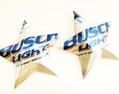 Busch Light  Beer Stars Ornaments Aluminum Can Repurposed