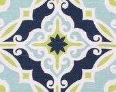 Navy Blue Lime Green Table Runner Centerpiece Wedding Home Decor Quatrefoil Aqua Blue Table Runner Linens