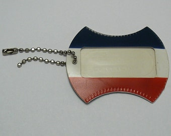 Vintage Luggage Tag American Tourister Red White & Blue Unused