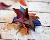 Flower for fall, autumnal flower bobby pin, flower hair accessory