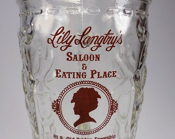 Lily Lantry's Saloon Boot Glass, Breweriana, Man Cave Decor, Gifts under 10
