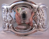 GORHAM Art Nouveau EP Silver Repousse Cuff Bracelet Engraved NELL Vintage Jewelry Jewellery